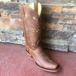 Women's Cowgirl Western Boots Dark Brown